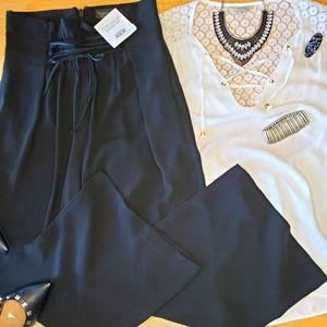 🆕️Topshop Cropped Wide Leg w/ Tie Wais